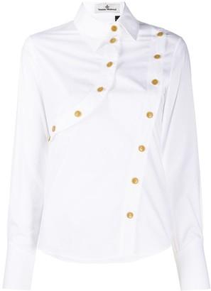 Vivienne Westwood Fan asymmetric cotton shirt