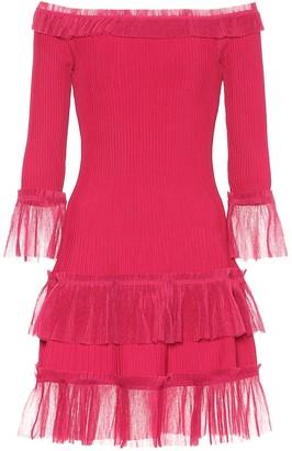 Jonathan Simkhai Off-the-shoulder knit minidress