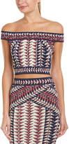BCBGMAXAZRIA Kayann Off-The-Shoulder Knit Crop Top