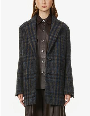 Victoria Victoria Beckham Jumbo check-print woven coat