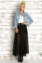 Rails Ava Skirt in Black Lace