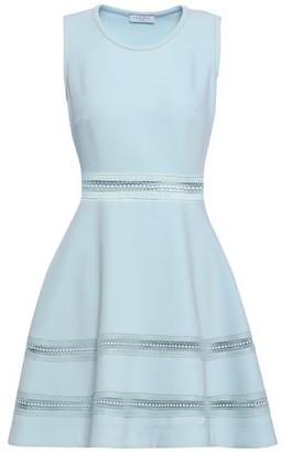 Sandro Carrie Crochet-trimmed Cloque Mini Dress