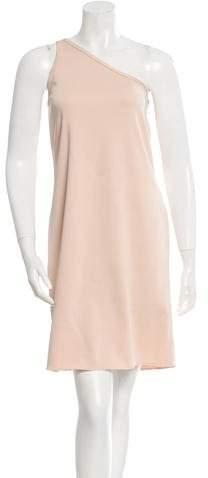 Celine One-Shoulder Shift Dress