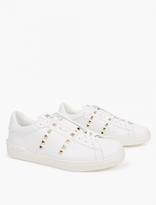 Valentino White Ltd Edition Gold Stud Sneakers