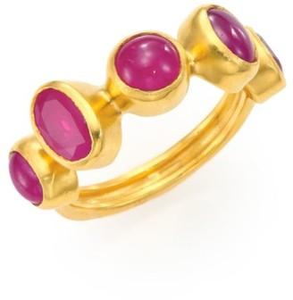 Gurhan Amulet Hue Ruby & 24K Yellow Gold Ring