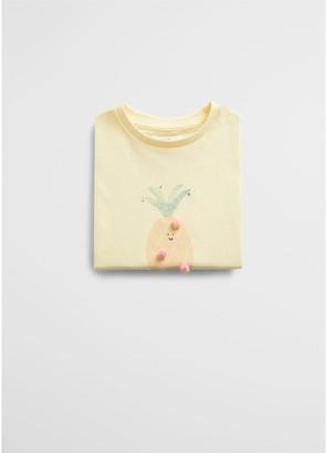MANGO Baby Girls Pineapple Print Sleeveless T-shirt
