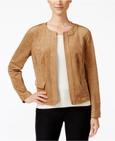 Charter Club Petite Faux-Suede Jacket, Only at Macy's