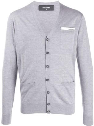 DSQUARED2 button-up knit cardigan