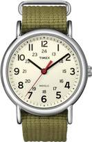 Timex Unisex T2N746 Quartz Watch with White Dial Analogue Display and Multicolour Nylon Strap