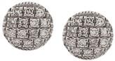 14kt white gold Lauren Joy diamond disc earrings