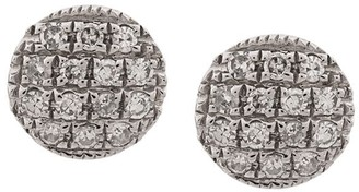 Dana Rebecca Designs 14kt white gold Lauren Joy diamond disc earrings