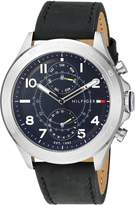 Tommy Hilfiger Men's Quartz Stainless Steel and Leather Casual Watch, Color: (Model: 1791346)
