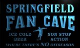 AdvPro Name th2205-b Springfield Football Fan Cave Man Room Bar Beer Neon Light Sign
