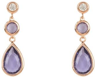 Latelita Tuscany Gemstone Drop Earring Rose Gold Amethyst