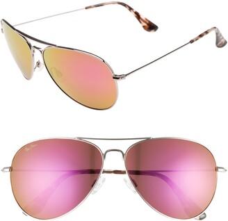 Maui Jim Mavericks 61mm PolarizedPlus2(R) Aviator Sunglasses