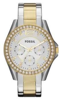 Fossil Ladies Two-Tone Glitz Boyfriend Watch