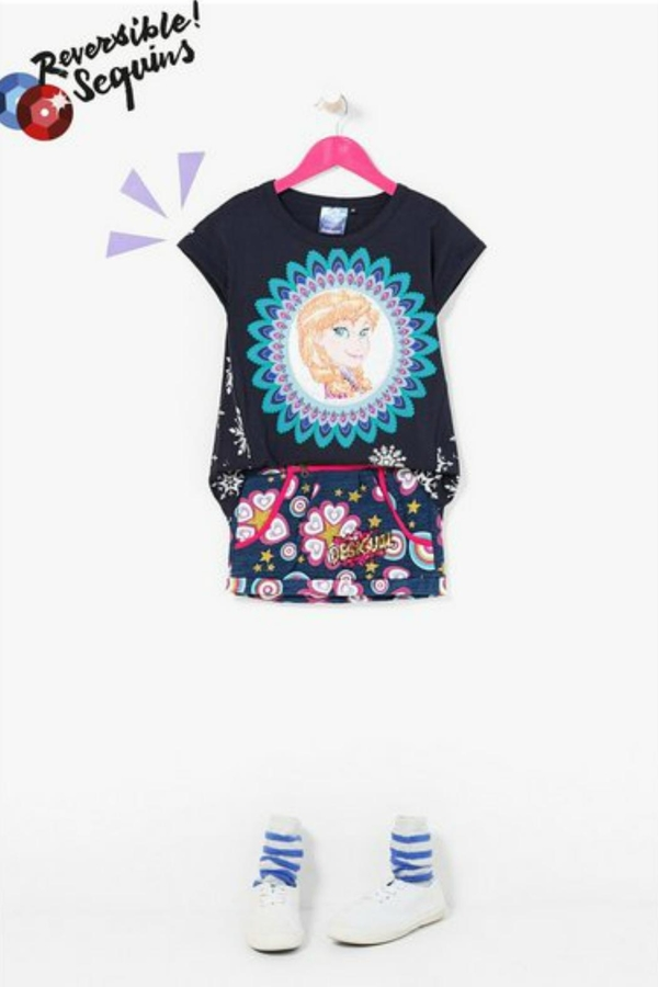 Desigual Color Changing Sequin Top
