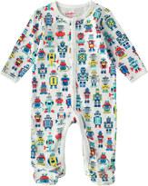 Cath Kidston Robots Baby Sleepsuit