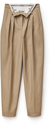 Collection foldover carrot pant