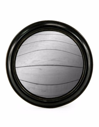 &Quirky - Black Rounded Framed Large Convex Mirror