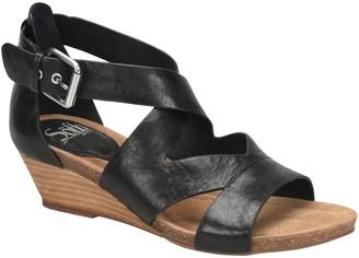 Sofft Leather Wedge Sandals - Vara