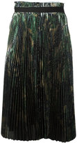 Off-White metallic effect pleated skirt - women - Polyester - XS