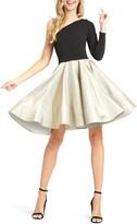 Mac Duggal Ieena For One-Shoulder Long Sleeve Party Dress