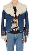 Loewe Men's Shearling & Denim Peacoat