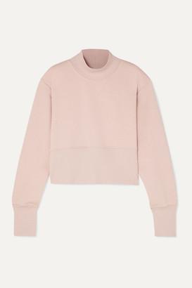 Vaara Gaia Cropped Cotton-blend Jersey Sweatshirt - Blush