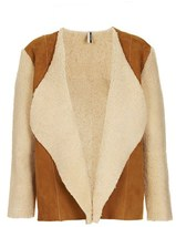 Topshop 'The Collection Starring Kate Bosworth' Genuine Shearling Jacket