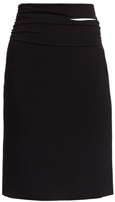 Helmut Lang Jersey Pencil Skirt