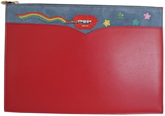 Olympia Le-Tan Olympia Le Tan Red Leather Clutch bags