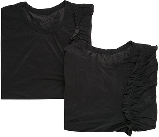 Y's ruffle trim T-shirt