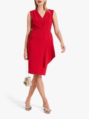 Phase Eight Clarissa Drape Detail Dress, Raspberry