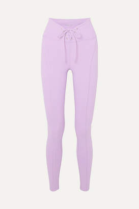 YEAR OF OURS Football Lace-up Stretch Leggings - Lilac