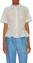 Paul & Joe Sister Pervenche Cotton Eyelet Peplum Top