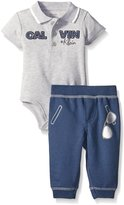 Calvin Klein Baby-Boys Bodysuit and French Terry Pants