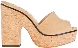 Jimmy Choo Deedee 125 Suede Platform Sandals