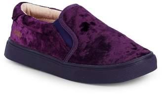 Akid Little Girl's & Girl's Crushed Velvet Shoes