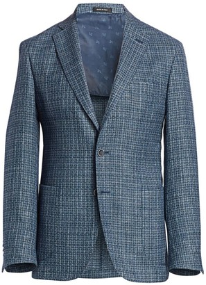 Saks Fifth Avenue COLLECTION Textured Wool, Silk & Linen Jacket