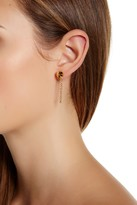 Botkier Bolted Front Back Chain Earrings