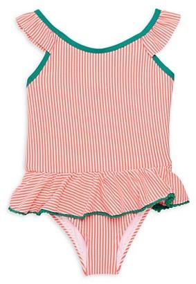 KensieGirl Little Girl's Striped One-Piece Swimsuit