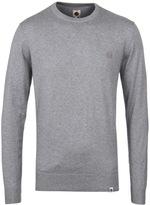 Pretty Green Mandeville Light Grey Crew Neck Sweater