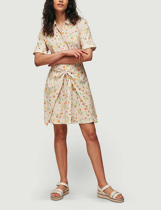 Whistles Dolly fruit-print stretch-woven mini dress