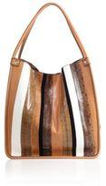 Proenza Schouler Medium Striped Leather & Snakeskin Tote