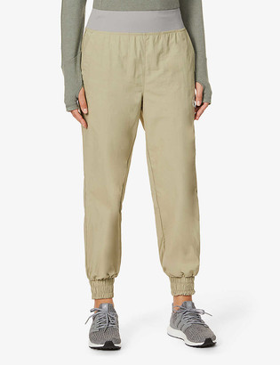 adidas by Stella McCartney College relaxed-fit high-rise recycled-polyamide trousers