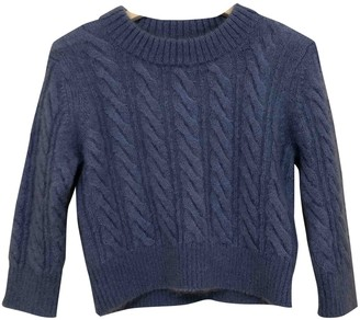 Erdem X H&m Blue Wool Top for Women