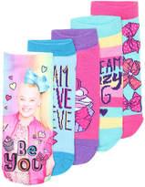 Nickelodeon Jojo Siwa Toddler & Youth No Show Socks - 5 Pack - Girl's