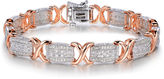 JCPenney FINE JEWELRY 1 CT. T.W. Diamond Two-Tone X Link Bracelet