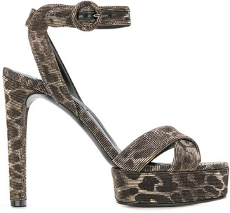 Casadei leopard heeled sandals